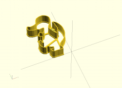 Dino - Erstellte 3D-Vorlage